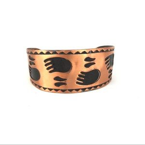 Jewelry - Solid Copper Tribal Cuff Bracelet